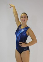 Leotard Sleeveless Dark Blue Wetlook Turquoise Cornflower Blue Glitter V808