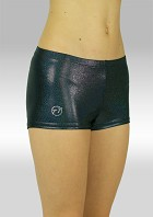 Hotpants Black Wetlook Metallic S758zw