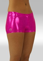 Hotpants pink wetlook O758rz